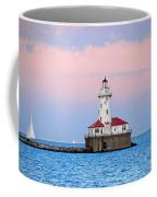 Lighthouse At The Navy Pier Coffee Mug