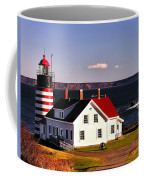 Lighthouse At West Quoddy Head Coffee Mug