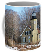 Lighthouse At White River Coffee Mug