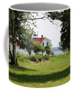 Lighthouse Hidden Behind Trees Coffee Mug