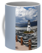Lighthouse In Lake Dillon Coffee Mug