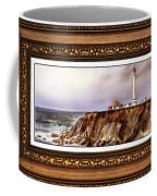 Lighthouse In Vintage Frame Coffee Mug