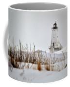 Lighthouse In Winter Coffee Mug