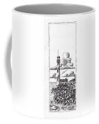 Lighthouse On A Cliff Pointillist Coffee Mug