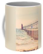 Lighthouse On Lake Michigan Coffee Mug
