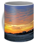 Lighthouse Sunset By Jan Marvin Coffee Mug