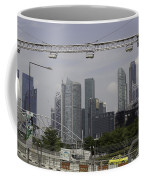 Lighting Work For The Singapore Formula One And A View Of The Helix Bridge Coffee Mug