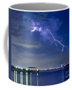 Lightning Over Safety Harbor Pier Coffee Mug