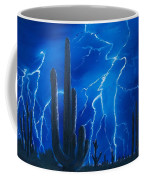 Lightning  Over The Sonoran Coffee Mug by Sharon Duguay
