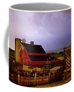 Lightning Strikes Over The Farm Coffee Mug by James BO  Insogna