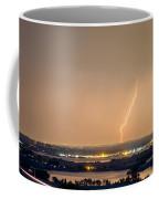 Lightning Striking Over Coot Lake And Boulder Reservoir Coffee Mug by James BO  Insogna