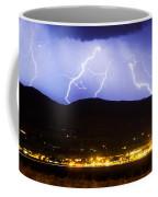 Lightning Striking Over Ibm Boulder Co 3 Coffee Mug