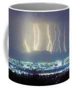 Lightning Striking Over Phoenix Arizona Coffee Mug