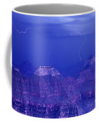 Lightning Strkes At The North Rim Grand Canyon National Park Coffee Mug