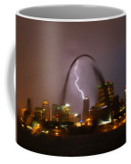 Lightning With The St Louis Arch Coffee Mug