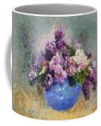 Lilac In Blue Vase Coffee Mug
