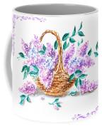 Lilac Vintage Impressionism Painting Coffee Mug