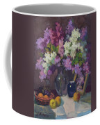 Lilacs And Blue Vase Coffee Mug