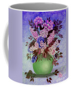 Lilacs And Queen Anne's Lace In Pink And Purple Coffee Mug