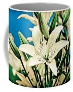 Lilies In White Coffee Mug