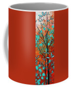 Lilly Pulitzer Inspired Abstract Art Colorful Original Painting Spring Blossoms By Madart Coffee Mug