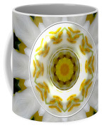 Lily And Daffodil Kaleidoscope Under Glass Coffee Mug