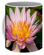 Lily And Dragon Fly Coffee Mug by Nick Zelinsky