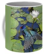 Lily Pad With Bird Coffee Mug
