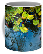 Lily Pads Ripples And Gold Fish Coffee Mug