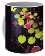 Lily Pads With Pink Flowers - Square Coffee Mug