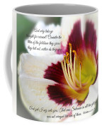 Lily With Scripture Coffee Mug
