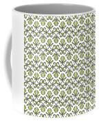 Lime Green And White Vines Coffee Mug