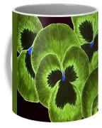 Lime Green Pansies Coffee Mug