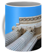 Lincoln County Courthouse Columns Looking Up 01 Coffee Mug