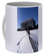 Lincoln Memorial In The Snow Coffee Mug