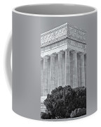 Lincoln Memorial Pillars Bw Coffee Mug