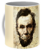 Lincoln Sepia Grunge Coffee Mug