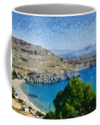 Lindos Beach Coffee Mug