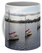 Line Of Boats On The Charles River Coffee Mug