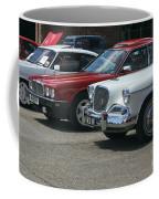 A Line Up Of Vintage Cars Coffee Mug