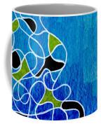 Linework Blue Coffee Mug
