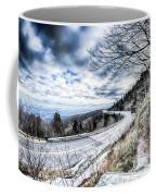 Linn Cove Viaduct Winter Scenery Coffee Mug
