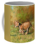 Lion Cub Running Coffee Mug