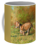 Lion Cub Running Coffee Mug