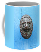 Lion Face Door Knob Coffee Mug by Lainie Wrightson