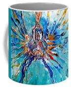 Lion Fish Blue Coffee Mug