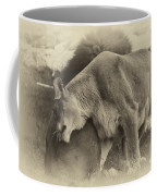 Lion Hugs In Heirloom Finish Coffee Mug