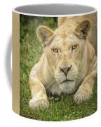 Lion In The Grass Coffee Mug