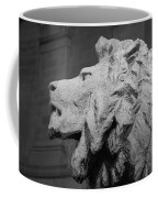 Lion Of The Art Institute Chicago B W Coffee Mug