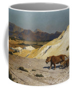 Lioness And Cubs Coffee Mug by Jean Leon Gerome